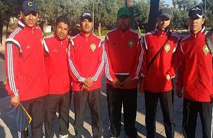 لاعبون سابقون لفريق شباب ابن جرير لكرة القدم في دورة تكوينية