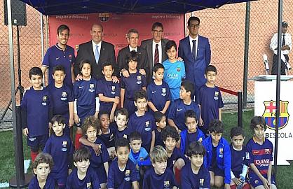 نادي برشلونة يُدشن رسمياً مدرسة كرة القدم في الدار البيضاء