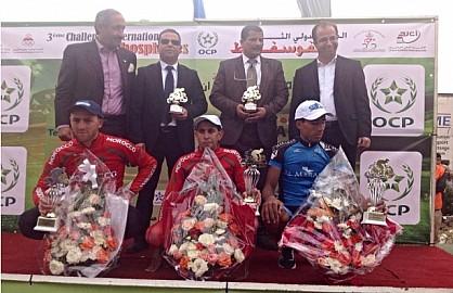 بن جرير :  الدراج المغربي لحسن صابر يفوز  بالدورة الثالثة لدوري الفوسفاط الدولي لسباق الدراجات على الطريق