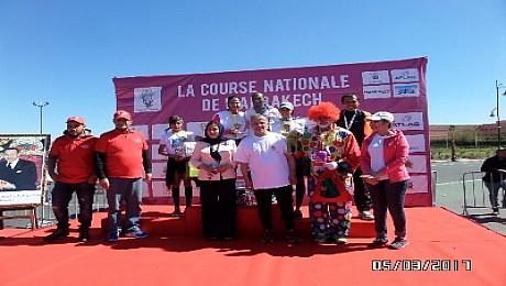 هشام لقواحي وفتيحة اصميد يفوزان بالنسخة الثانية لسباق مراكش الوطني على الطريق