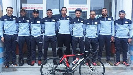 المنتخب الوطني المغربي للدراجات ببسكرة الجزائرية للمشاركة بالطواف الدولي Les Zibans