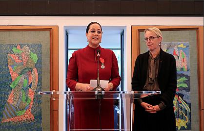 توشيح مريم بنصالح شقرون بوسام جوقة الشرف من درجة فارس للجمهورية الفرنسية