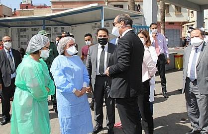 والي جهة الدار البيضاء-سطات يتفقد المستشفيات المخصصة لمرضى كورونا