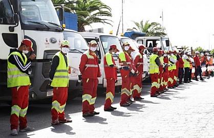 """أوزون"""" تباشر حملة توعية ضد """"كورونا"""" وتُعقم  عدد من المدن المتعهدة بها ومن بينها مدينة بنسليمان"""