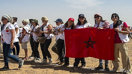 Briefing général des Gazelles KASBAH XALUCA, ERFOUD